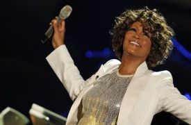 US singer Whitney Houston performs on st